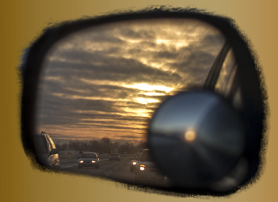Mirror Photograph - Reflection Of A Sunset by David Yocum