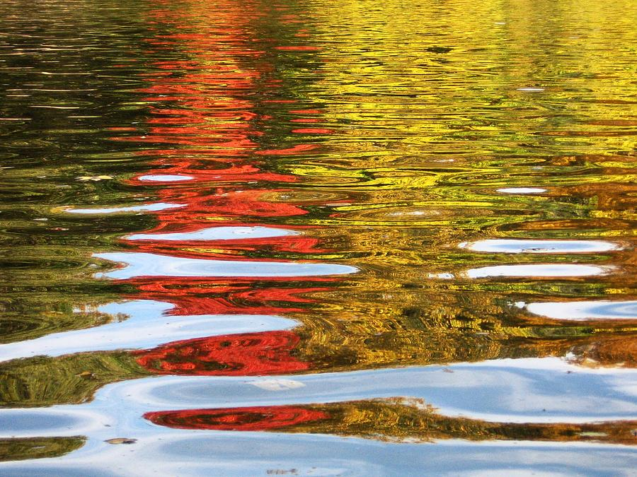 Water Photograph - Reflection Of Autumn by Brad Scoggins