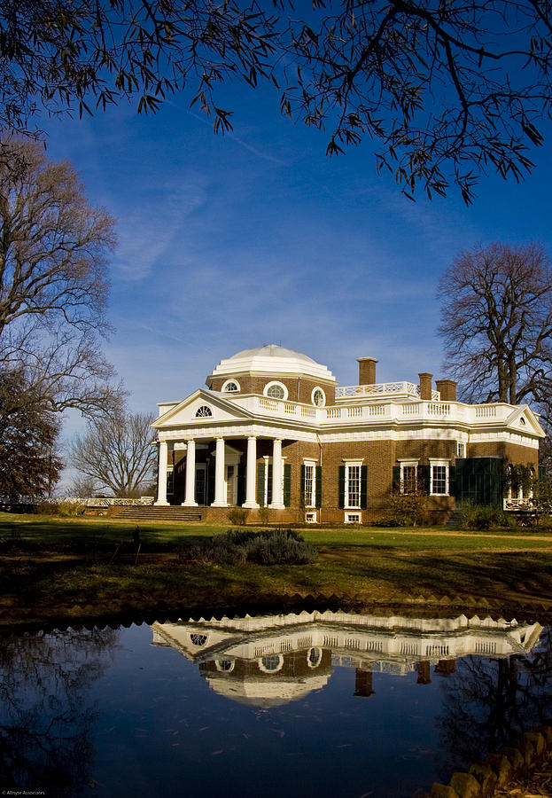 Landmarks Photograph - Reflection Of Monticello by Ches Black