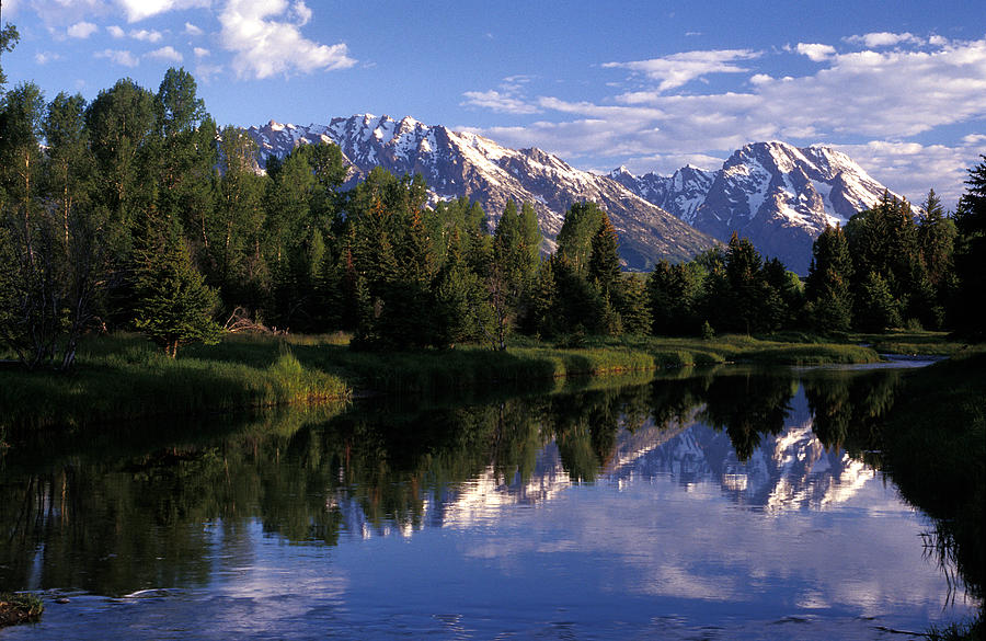 Reflection Photograph - Reflection Of The Teton Mountans by Richard Nowitz