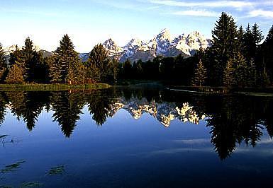 Teton Mountains Photograph - Reflection Of The Tetons by Floyd Bond