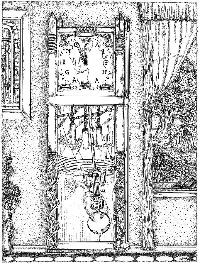 Clocks Drawing - Reflection Of Time by Glenn McCarthy Art and Photography
