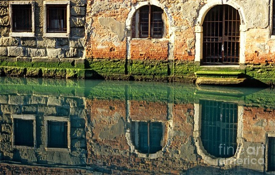 Venice Photograph - Reflection On Canal In Venice by Michael Henderson