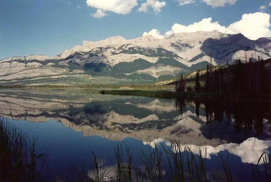 Mountains Photograph - Reflection On Talbot Lake by Shirley Sirois