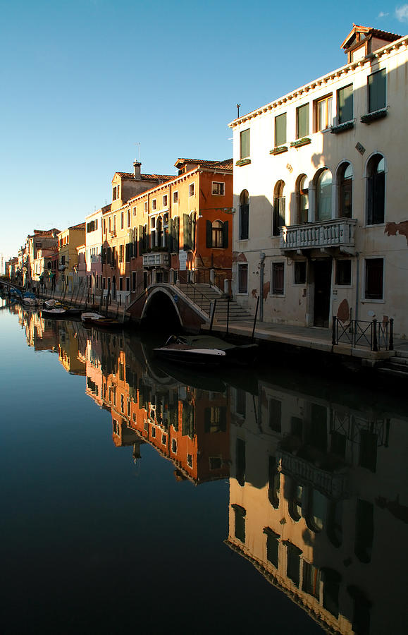 Venice Photograph - Reflection On The Cannaregio Canal In Venice by Michael Henderson