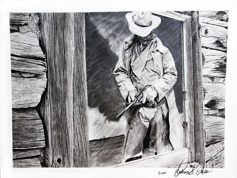 Charcoal Painting - Reflection by Raymond Potts