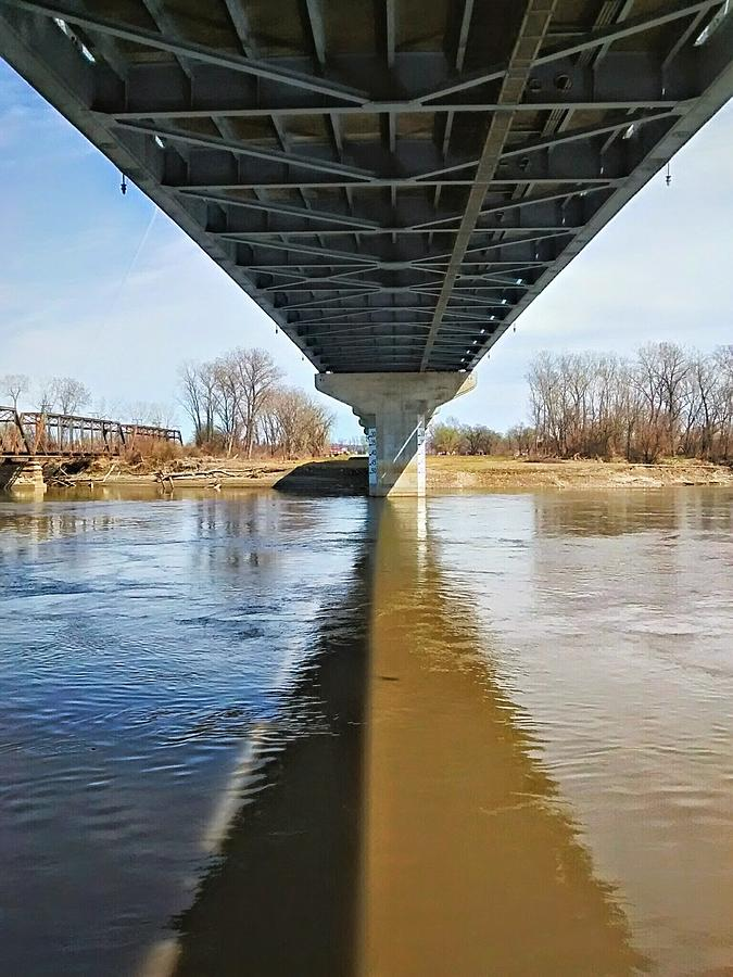 Missouri River Photograph - Reflection Shadow In Missouri River by Dustin Soph