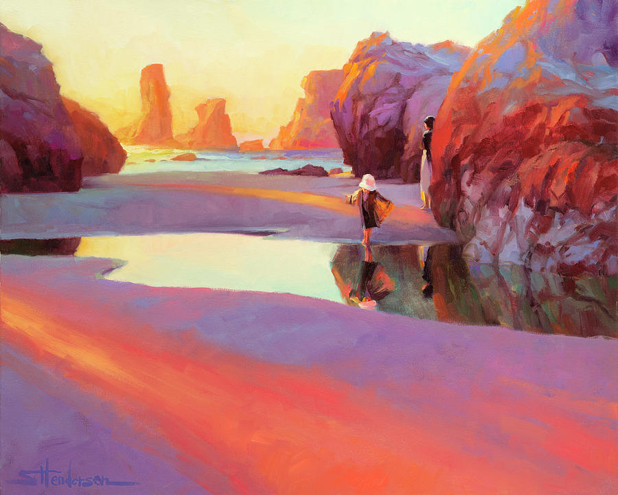 Coast Painting - Reflection by Steve Henderson
