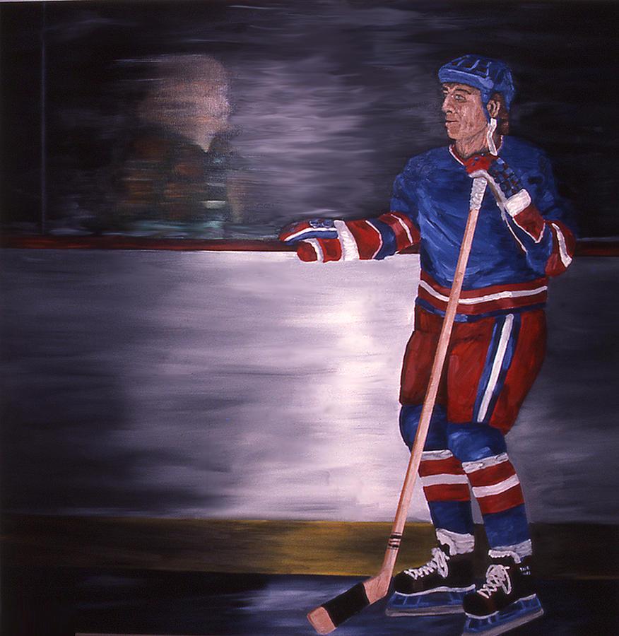 Hockey Painting - Reflection by Ken Yackel