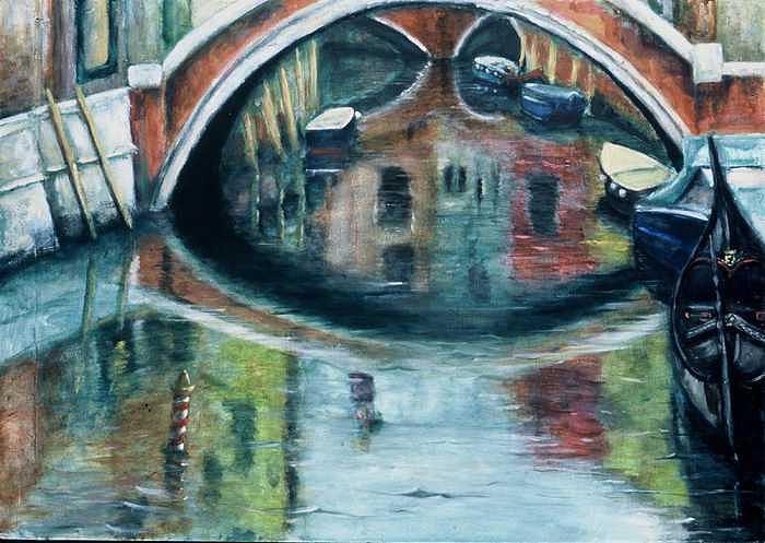 Venice Painting - Reflections by Leela Logan
