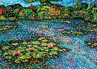 Pond Painting - Reflections At Giverny by Max R Scharf