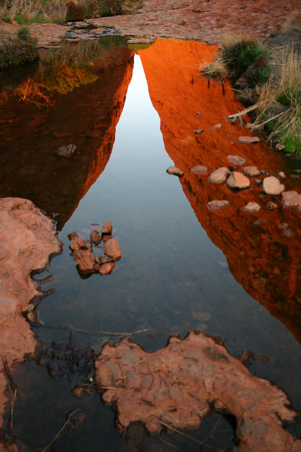 Reflections at Kata Tjuta in the Northern Territory by Keiran Lusk