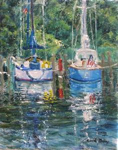 Boat Painting - Reflections by Carol Gray