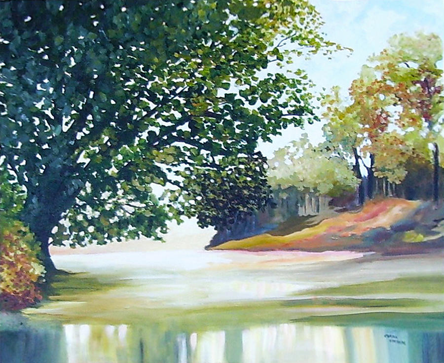 Landscape Painting - Reflections by Carola Ann-Margret Forsberg