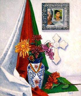 Still Life Painting - Reflections In A Mexican Mirror by Gainor Roberts