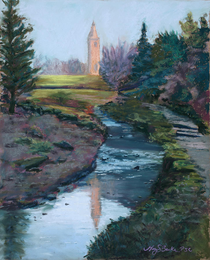 Uk Painting - Reflections In History by Mary Benke