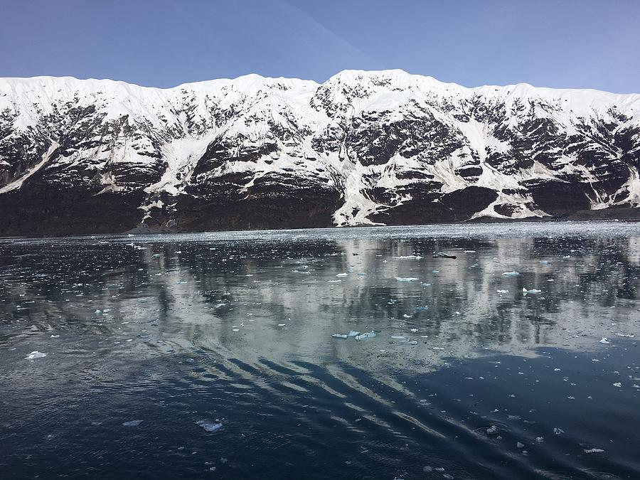 Reflections in Icy Point Alaska by VAL OCONNOR