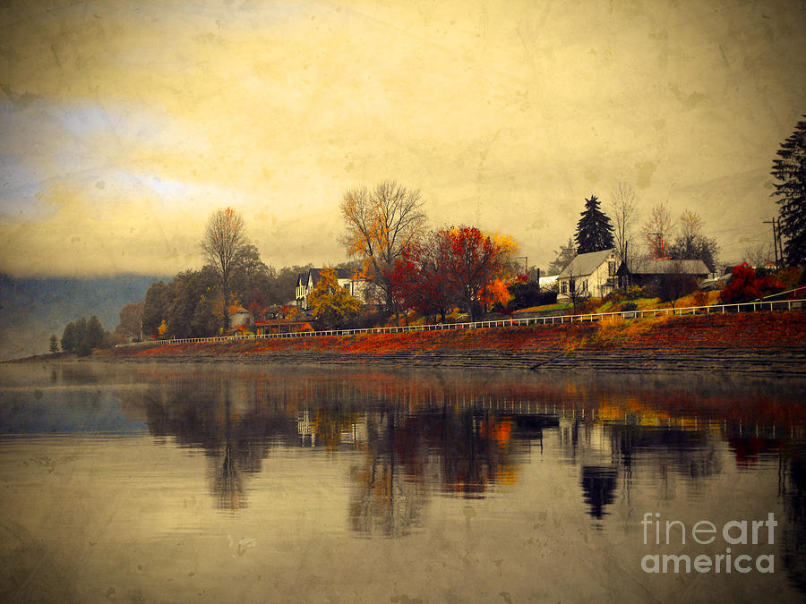 Trees Photograph - Reflections In Nakusp by Tara Turner