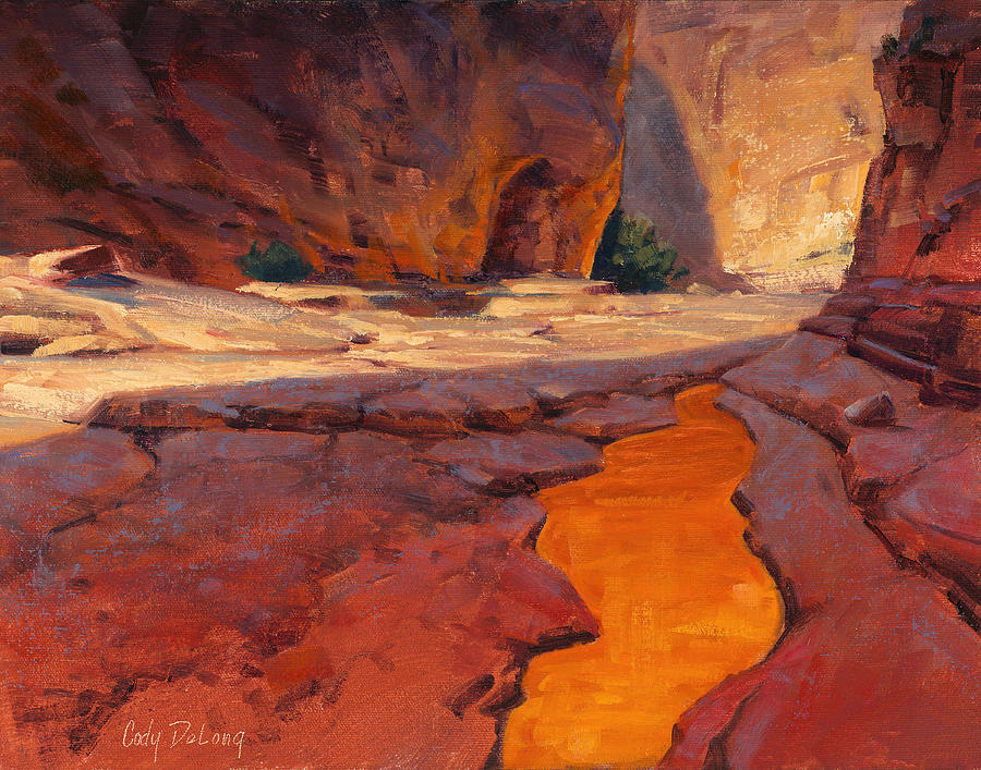 Cody Delong Painting - Reflections In Red by Cody DeLong