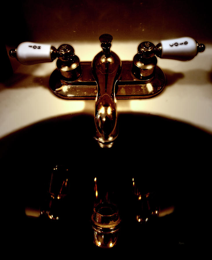 Bathroom Photograph - Reflections In Sink Art by Steven Digman