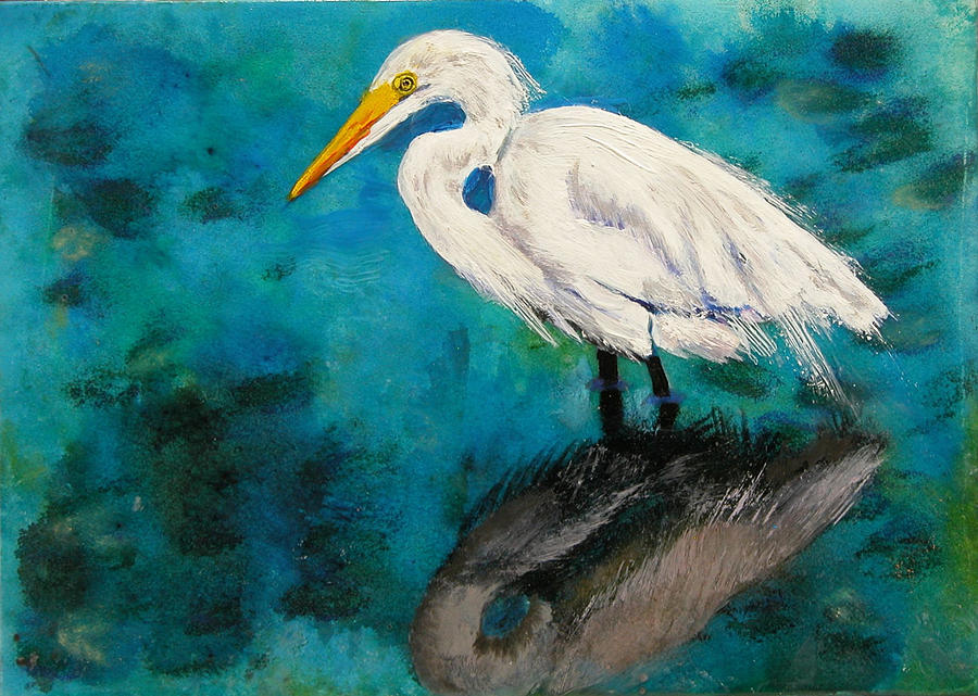 Acrylic Pastel - Reflections by Laura Gabel