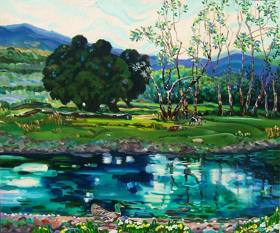 Landscapes Painting - Reflections by Mary Ann Gough