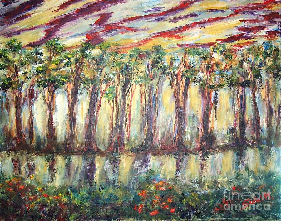 Mary Sedici Painting - Reflections by Mary Sedici
