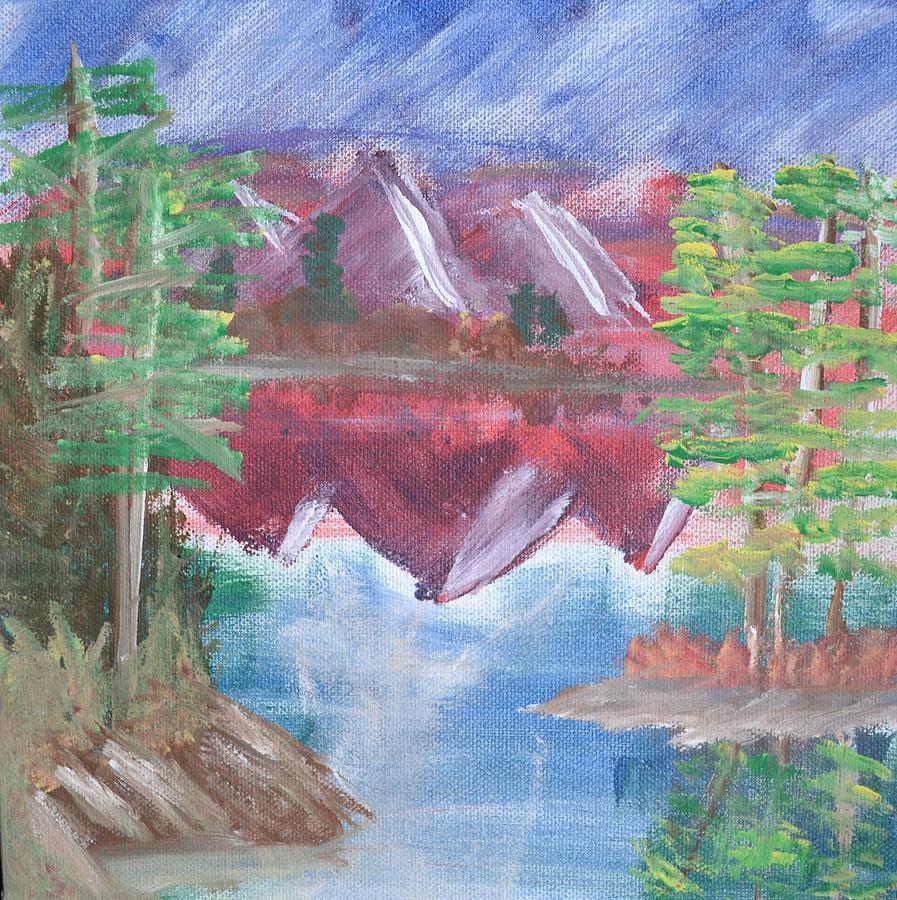 Bob Ross Painting - Reflections by Morgan McLaren