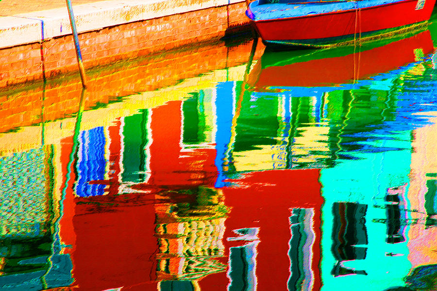Abstract Pastel - Reflections Near The Red Hull by Donna Corless