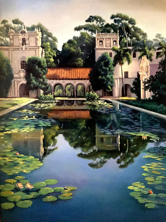 Buildings Painting - Reflections by Nella Lorette