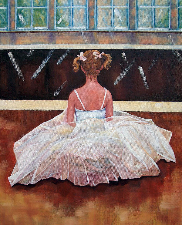Artwork Painting - Reflections Of A Young Dancer by Lisa Marie Dole Skinner