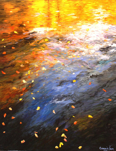 Oil Painting Painting - Reflections Of Autumn II by Connie Tom