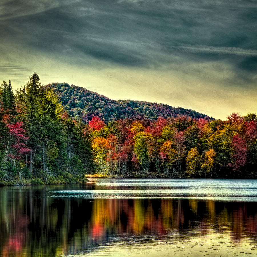 Reflections Of Autumn On West Lake Photograph by David Patterson
