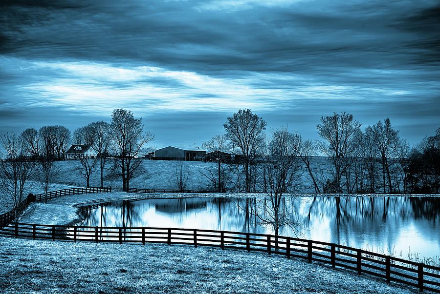Reflections of Blue by KaFra Art