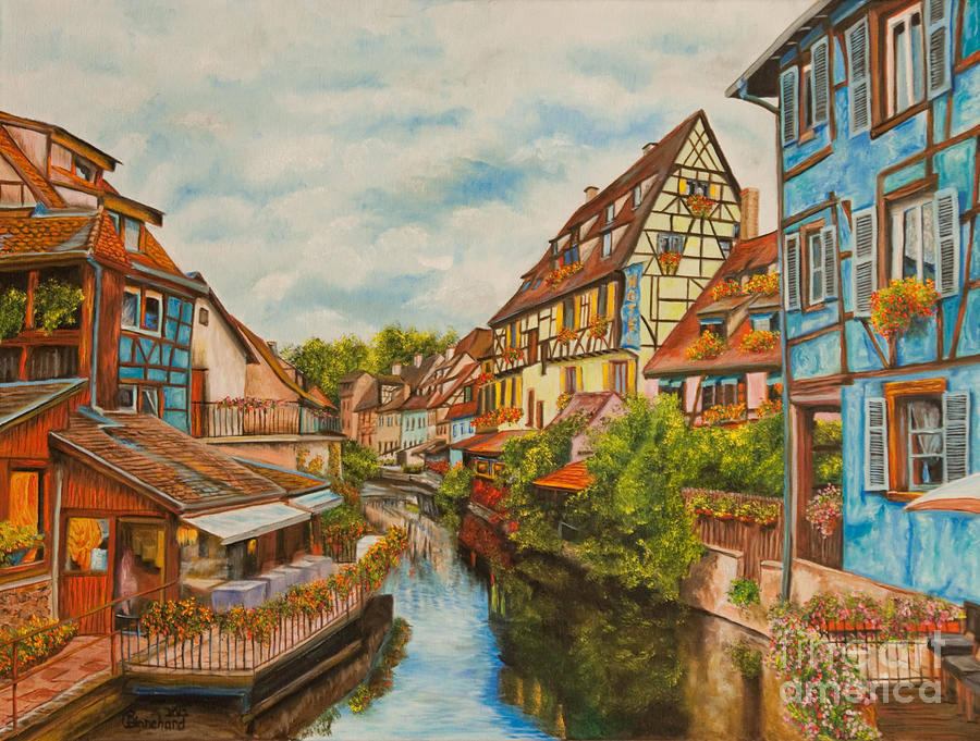 Colmar France Photos Painting - Reflections Of Colmar by Charlotte Blanchard