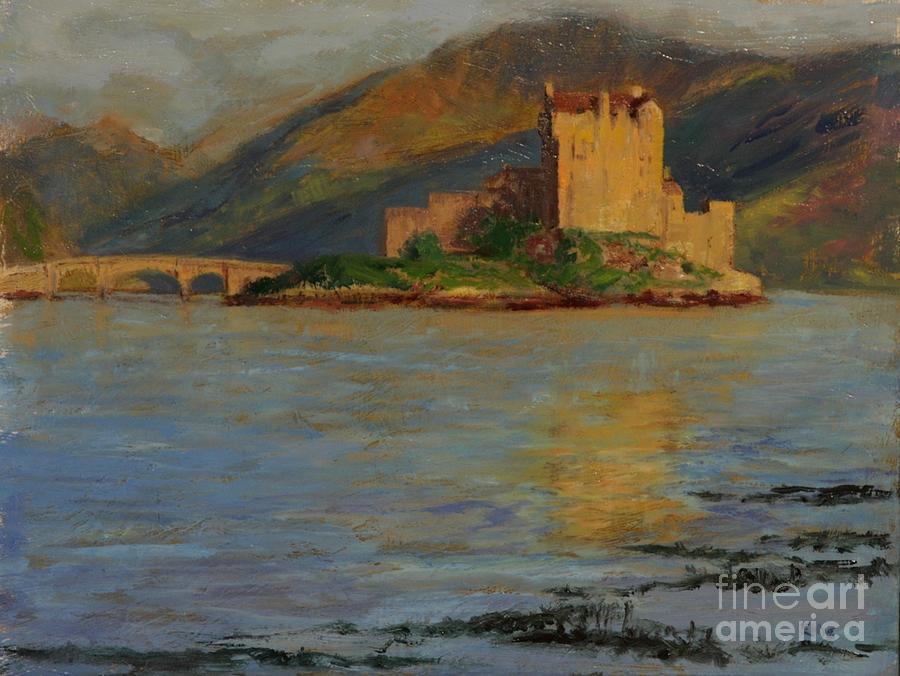 Eilean Donan Castle Paintings Painting - Reflections Of Eilean Donan by Don Ellis