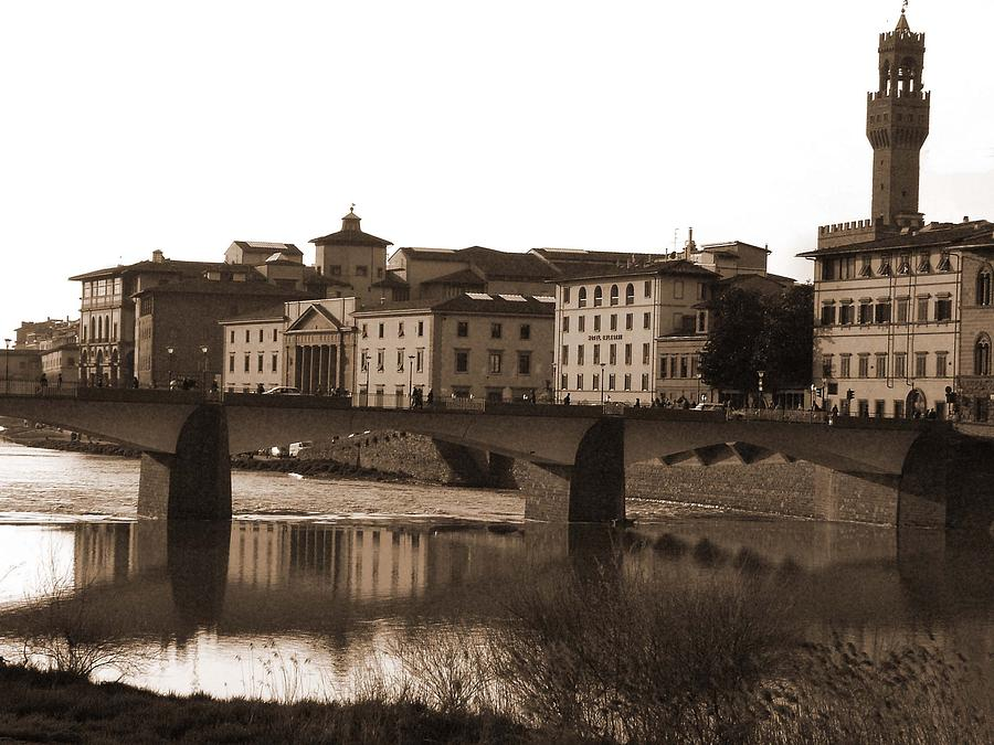 Sepia Photograph - Reflections Of Florence by Donna Corless
