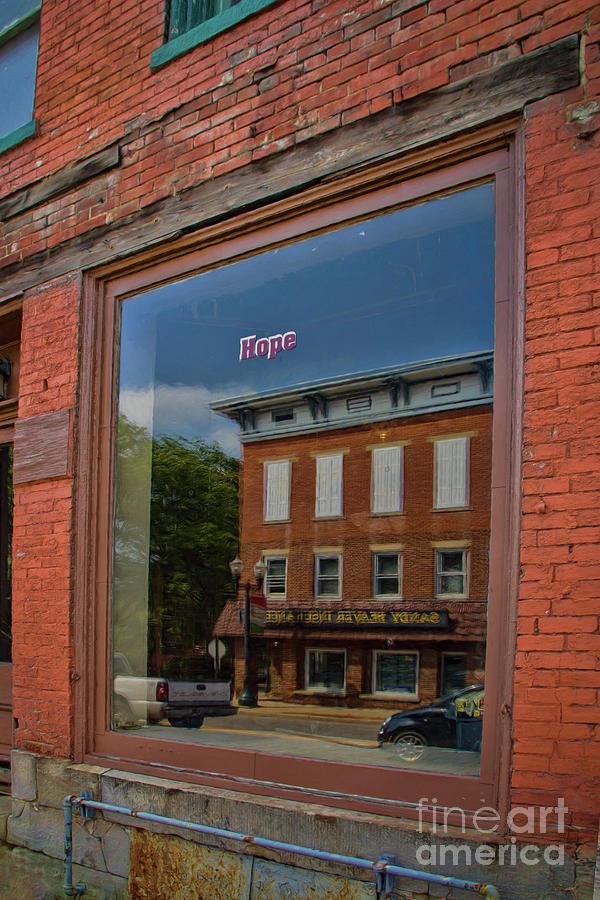 Window Photograph - Reflections Of Hope by Janice Pariza