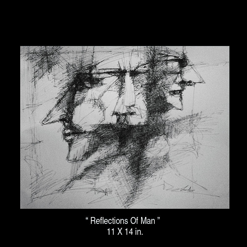 Figurative Mixed Media - Reflections Of Man by Leonardo Amador