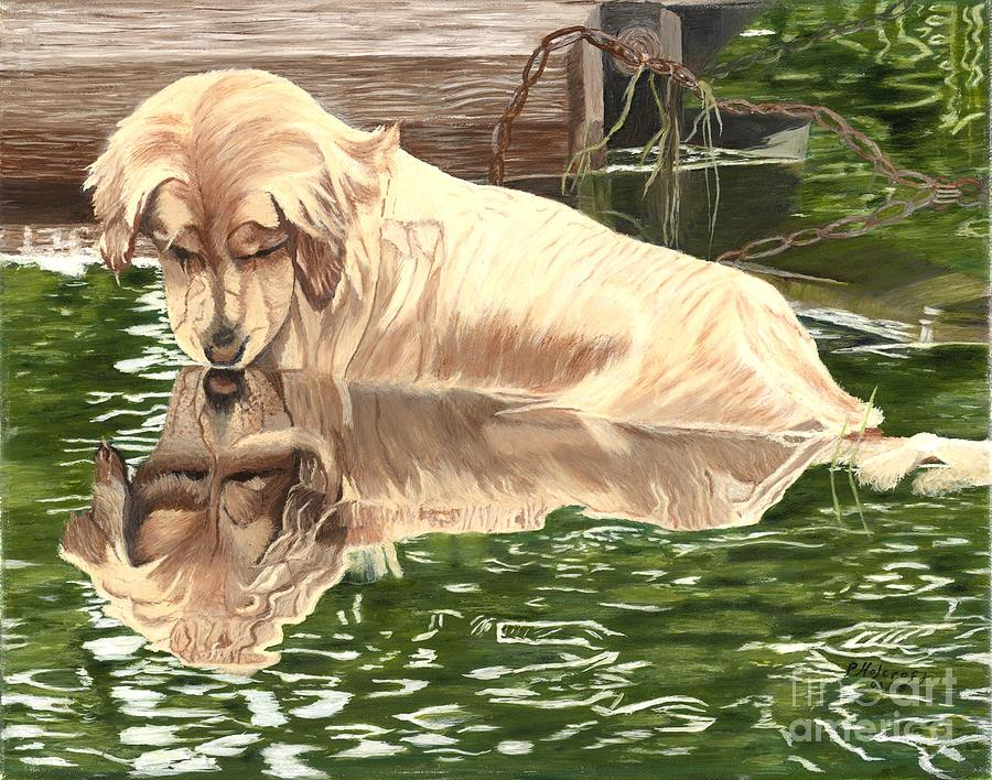 Reflections of Molly Painting by Peggy Holcroft