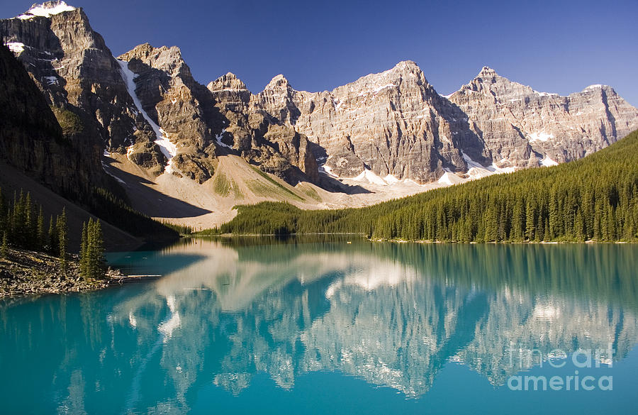 Canada Photograph - Reflections Of Moraine Lake by Andrew Serff