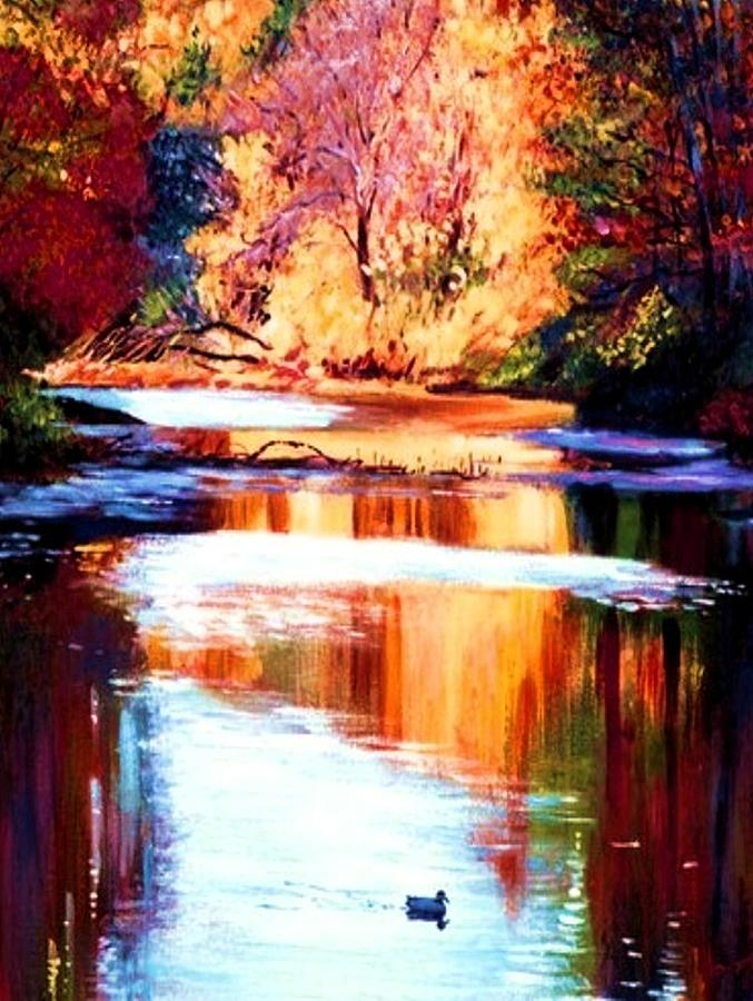 Reflections Of October Painting by Joseph Barani