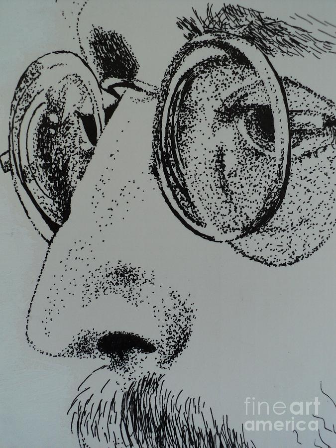 John Lennon Drawing - Reflections Of Peace John Lennon by Carla Carson