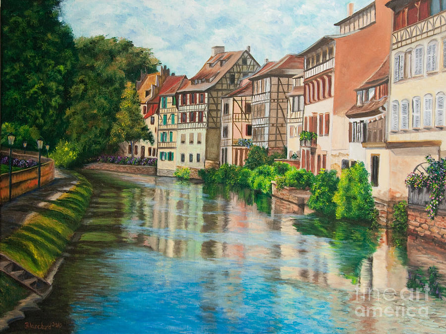 French Artist Painting - Reflections Of Strasbourg by Charlotte Blanchard