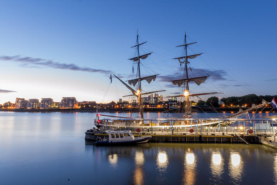 Ship Photograph - Reflections Of Tall Ships by Andrew Lalchan