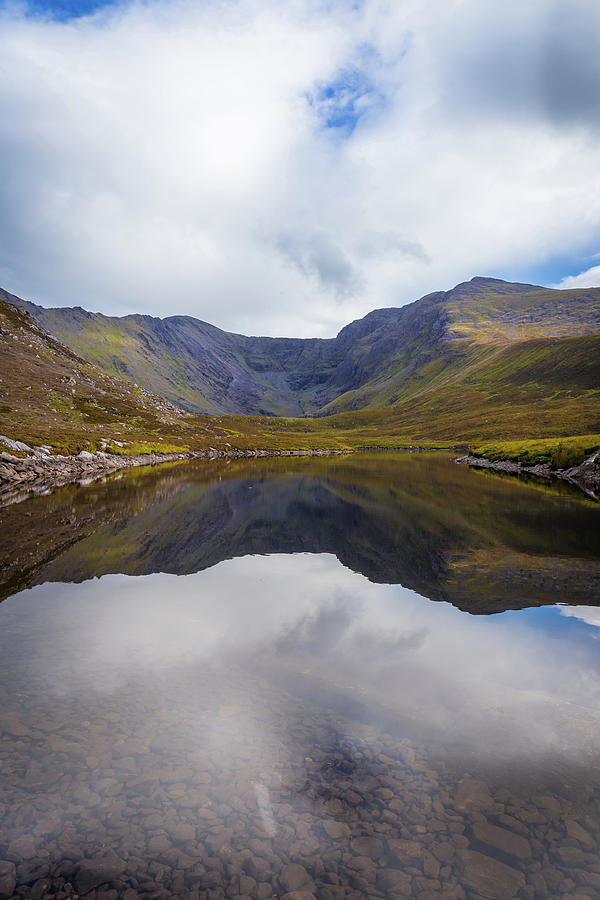 Reflections of the Macgillycuddy's Reeks in Lough Eagher by Semmick Photo