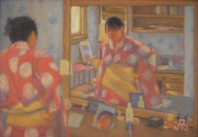 Reflections Of The Orient Painting by Diane Caudle