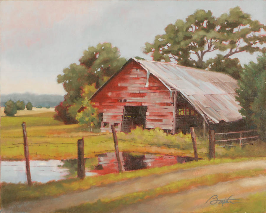 Barn Painting - Reflections Of The Past by Todd Baxter