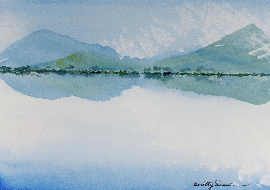 Reflections of the skies and mountains surrounding Bathurst Harbour by Dorothy Darden