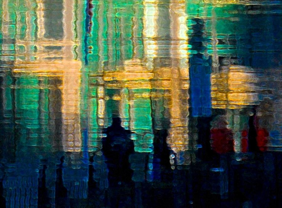 Abstract Photograph - Reflections Of Vancouver by Bill Kellett